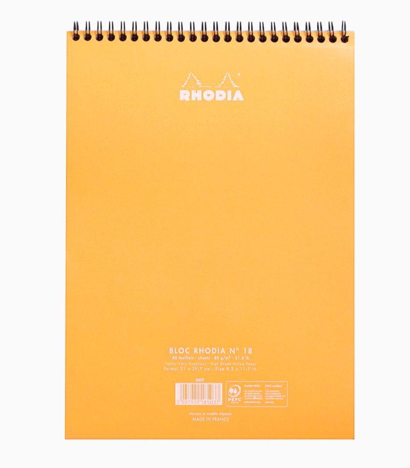 Blocnotes A4 Spiral Pad Rhodia Classic spate