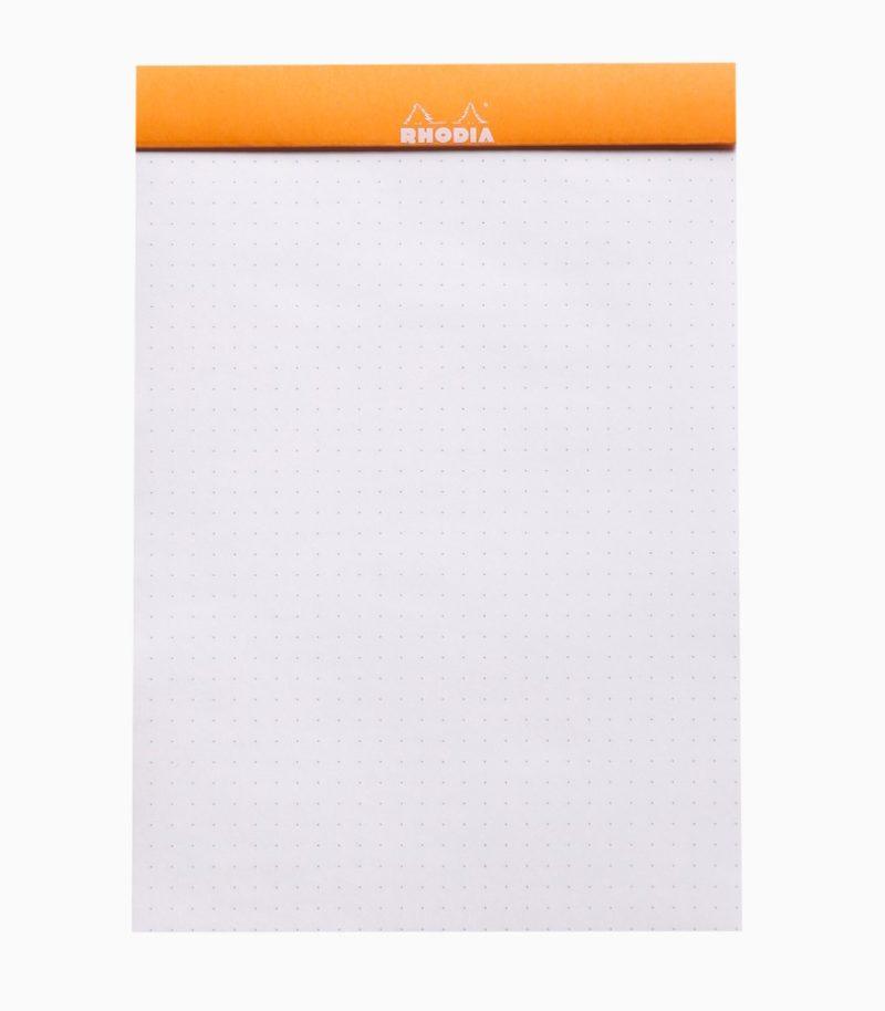 Blocnotes capsat A5 dotPad Rhodia portocaliu liniatură