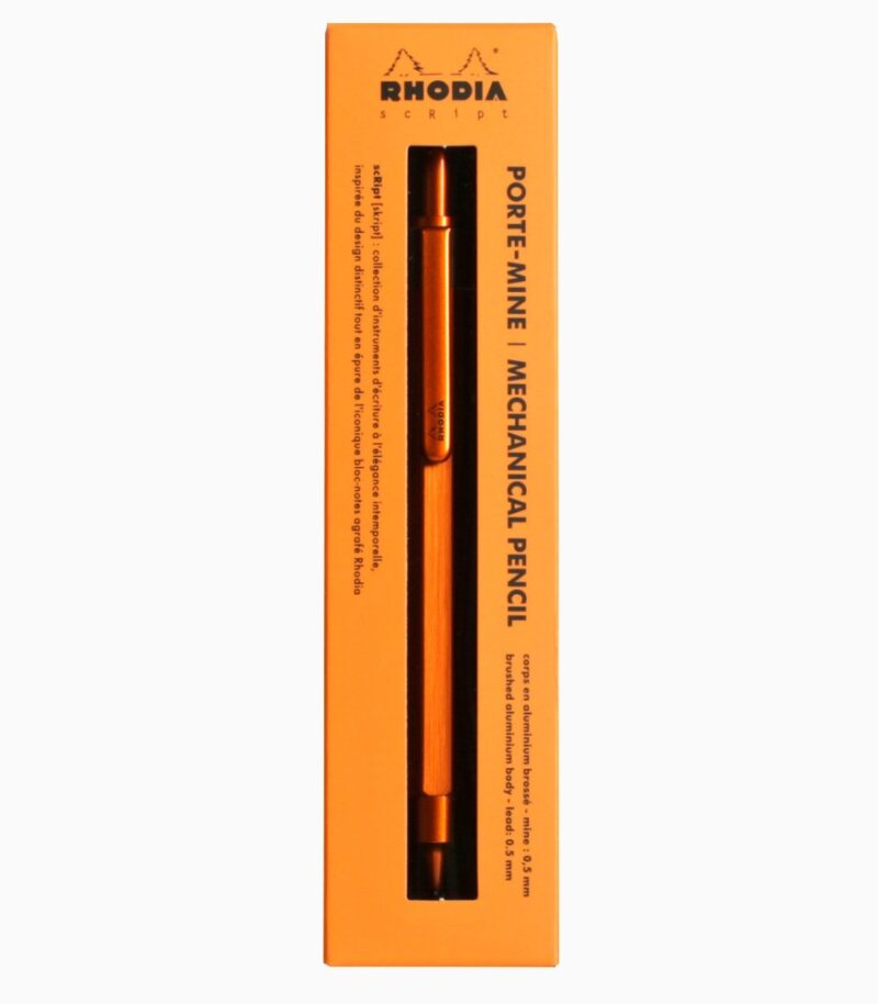 Creion mecanic 0.5 mm, Rhodia scRipt portocaliu cutie