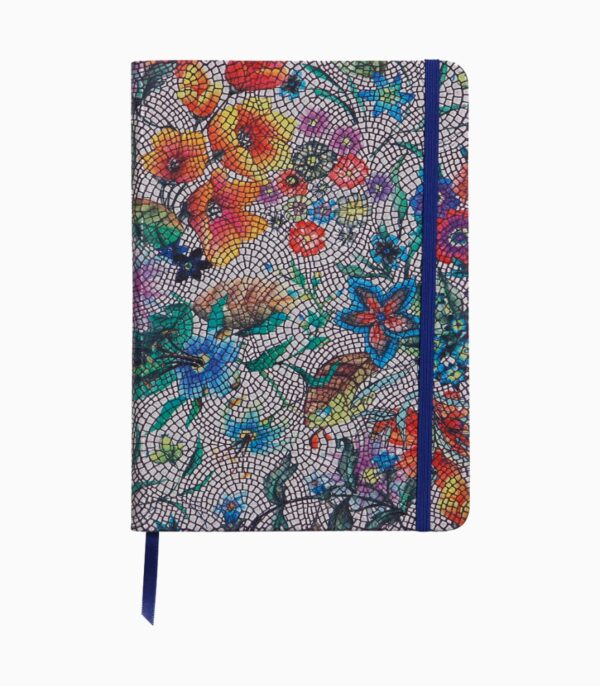 Notebook coperta moale piele, A5, Clairefontaine Celeste Multicolored flowers