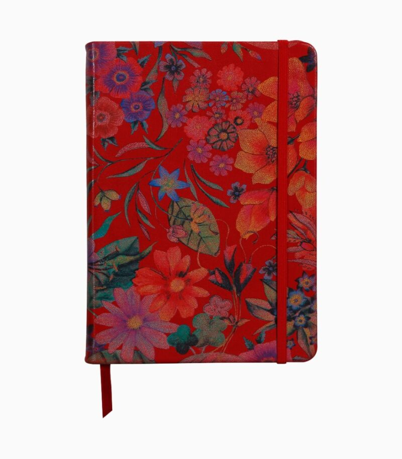 Notebook coperta moale piele, A5, Clairefontaine Red garden
