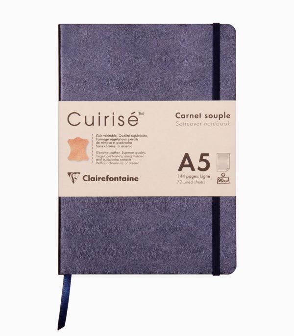Notebook cu copertă moale din piele Cuirise A5 Clairefontaine Oil