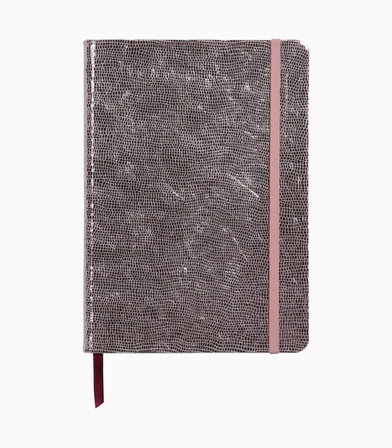 Notebook coperta tare piele, A5, Clairefontaine Celeste Pink