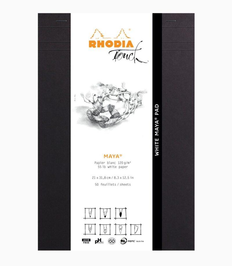 White Maya Pad A4+ Rhodia Touch Layout ambalaj